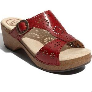 Dansko Sapphire Red Sandals Size 38